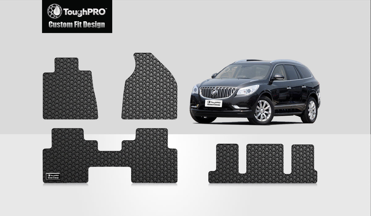 BUICK Enclave 2009 1st Row & 2nd Row & 3rd Row Mats For Bucket Seating