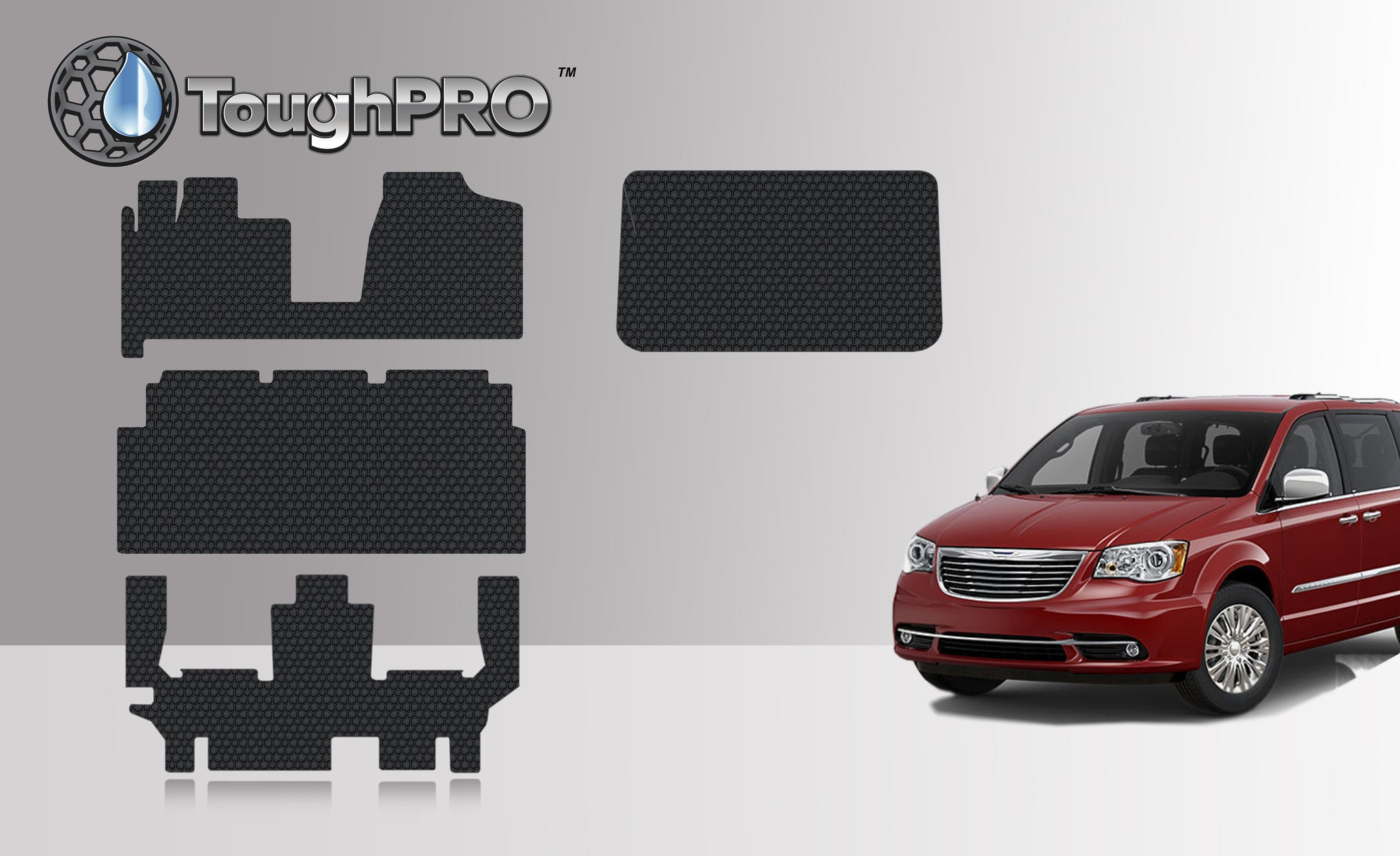 CHRYSLER Town & Country Van 2013 Front Row  2nd Row  3rd Row  Cargo Mat (3rd Row Up)