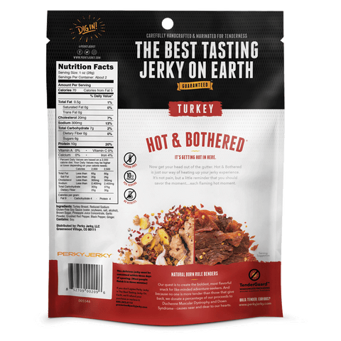 Perky Jerky Hot and Bothered Turkey 2.2oz Bag