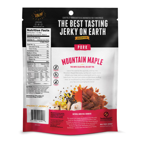 Perky Jerky Moutain Maple Pork Jerky 2.2 oz bag