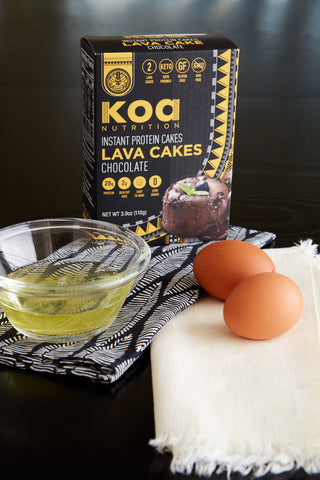 Koa Protein Lava Cakes - Add 2 eggs (1/4 Cup)