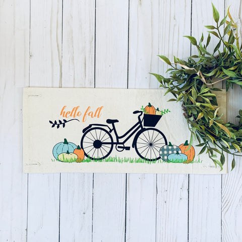 Season Panel: Vintage Bike Hello Fall