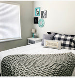 Gray Stripes: Pillow only (w/ foam insert): Build your own collection of panels!