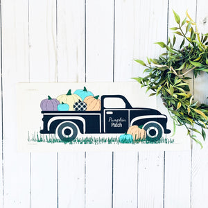 Season Panel: Vintage Truck Pumpkin