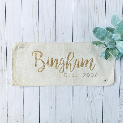 Add-on Panel: Wedding/Anniversary (custom last name and date)