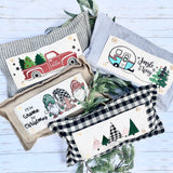 Buffalo Check Seasonal bundle Set: includes pillow and these 4 panels in the back pocket