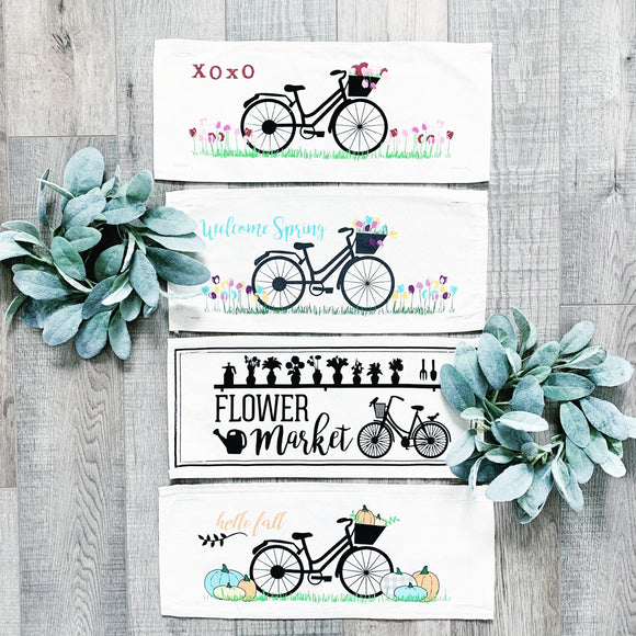 BUNDLE DEAL: Vintage Bike Panels (4 pack) SAVE!!!