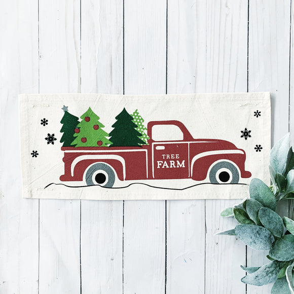 Holiday Panel: Vintage Truck Christmas