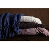 Bohem - Super Soft Turkish Cotton and Bamboo Waffle Knit Fringe Throw Blanket