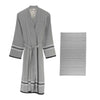 His & Her - 100% Turkish Cotton Bathrobe/Towel Set