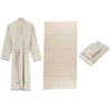 Suda - 100% Turkish Cotton Terry-Lined Bathrobe and Towel Set