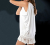 Layla - Fringed Beach Shirt