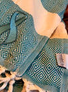 Teal Ribbon - Ovarian Cancer Awareness Turkish Towel