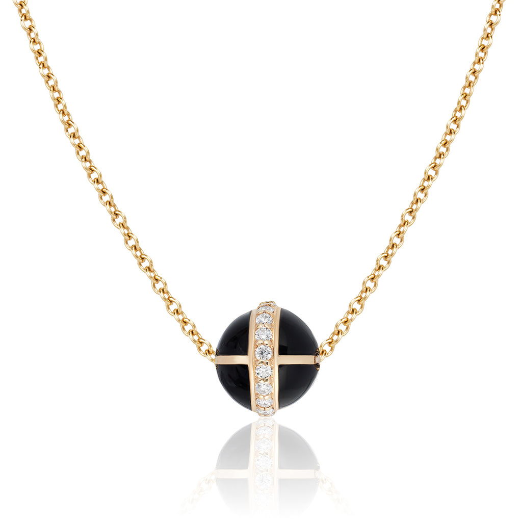 Rising Canopus Pendant with Diamonds (Black)
