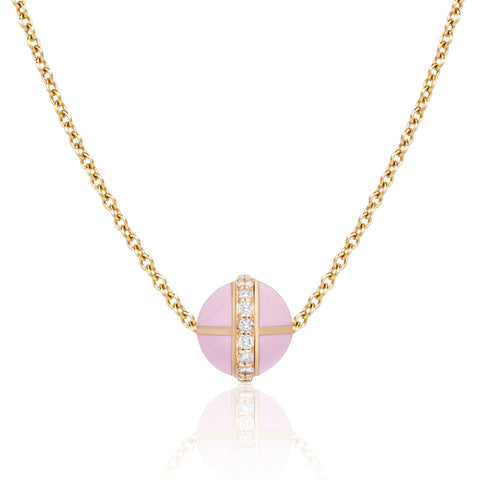 Rising Canopus Pendant with Diamonds (Pink)