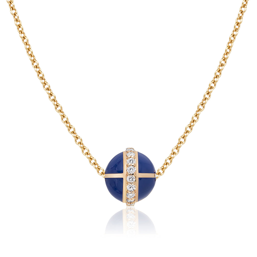 Rising Canopus Pendant with Diamonds (Royal Blue)