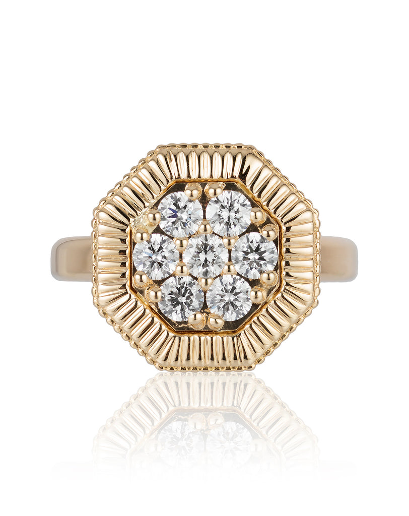 Octanight Ring in Yellow Gold