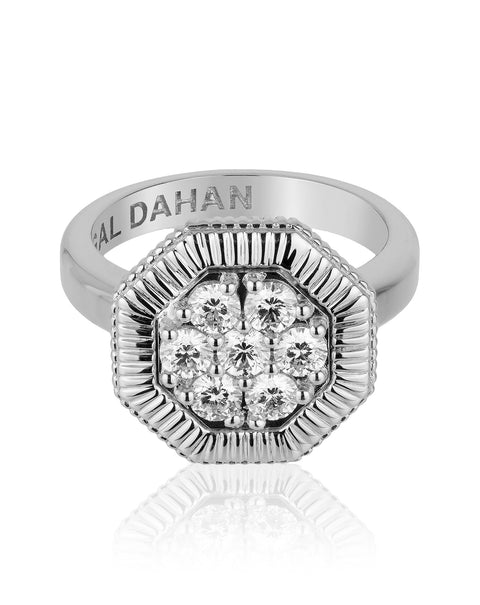 Octanight Ring in White Gold
