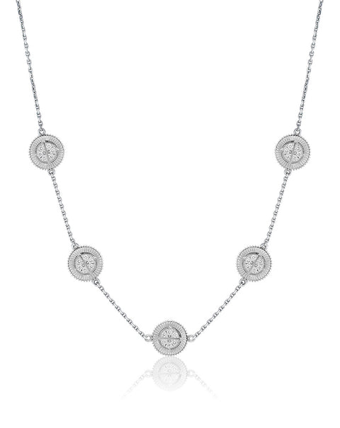 Winder of Love Necklace with diamonds, 5 Motifs
