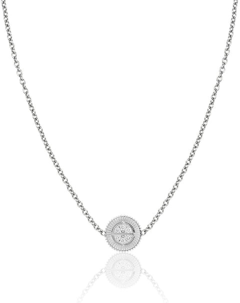 Winder of Love Pendant with Diamonds (White)