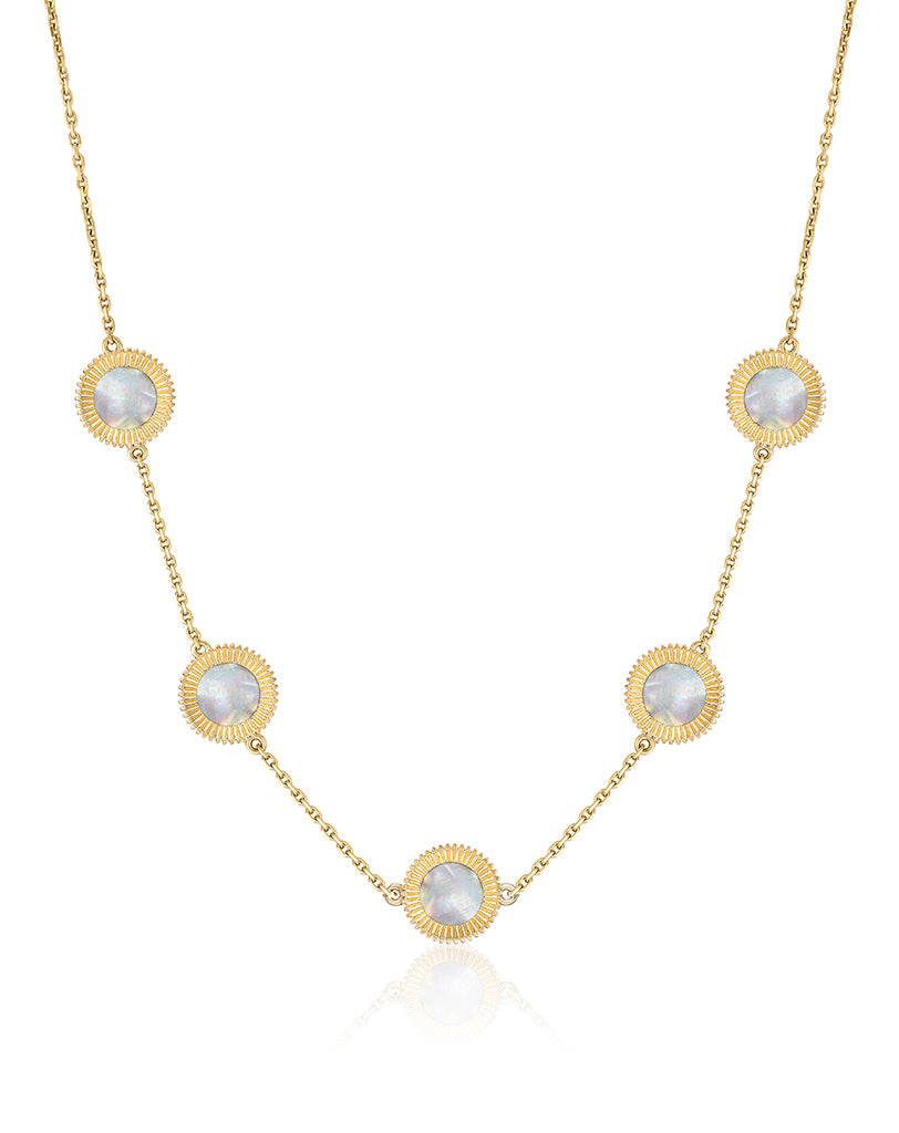 Winder of Love Necklace, 5  Motifs (Pearl)