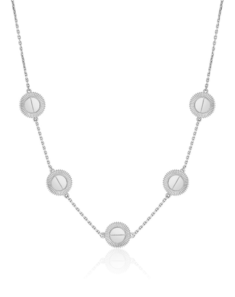 Winder of Love Necklace, 5 Motifs (White