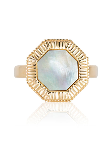 Octaday Ring with Mother-of-Pearl