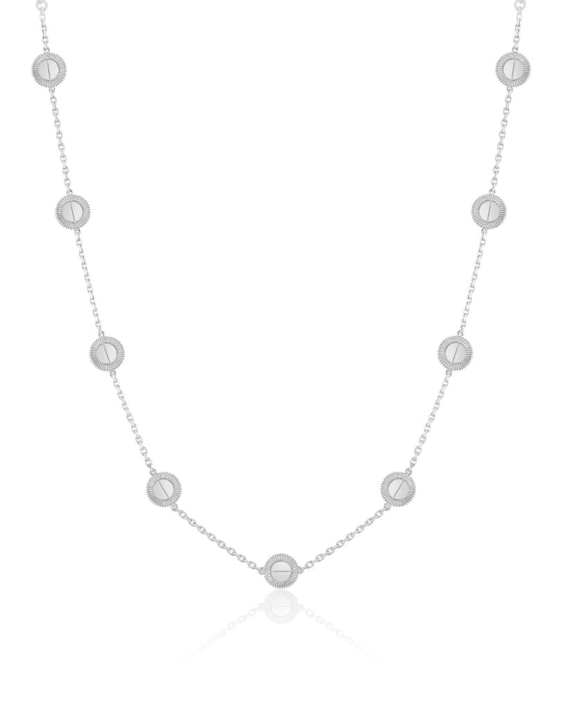 Winder of Love Necklace, 9 Motifs (White)