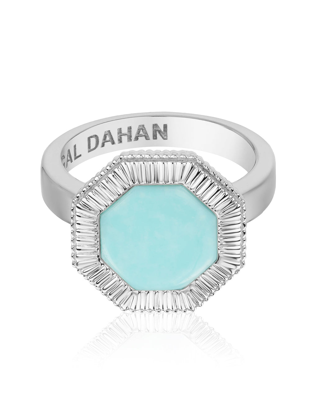 Octaday Ring with Turquoise