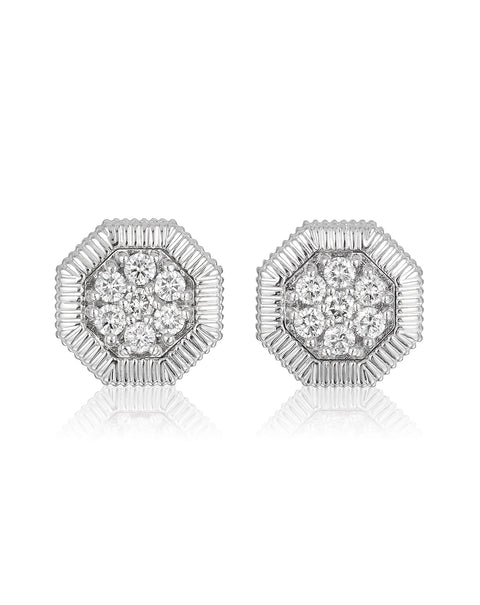 Octanight Earrings in White Gold