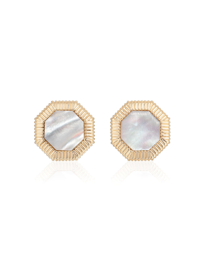 Octaday Earrings in Yellow Gold