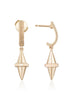 Golden Iconec Earrings in Yellow Gold