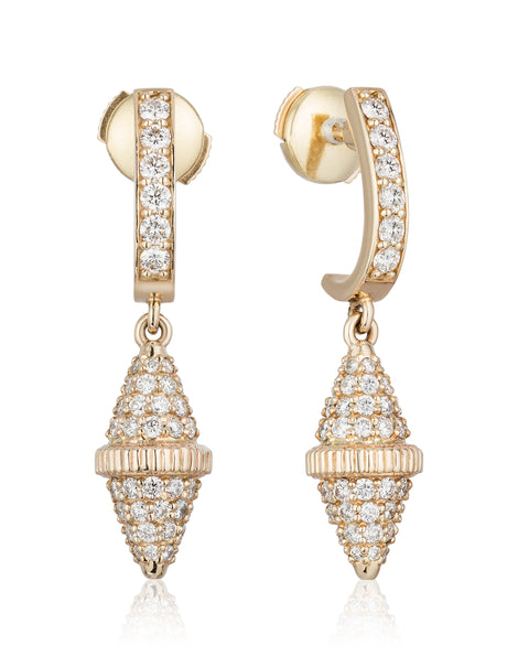 The Perga Diamond Bicone Earring (Full)