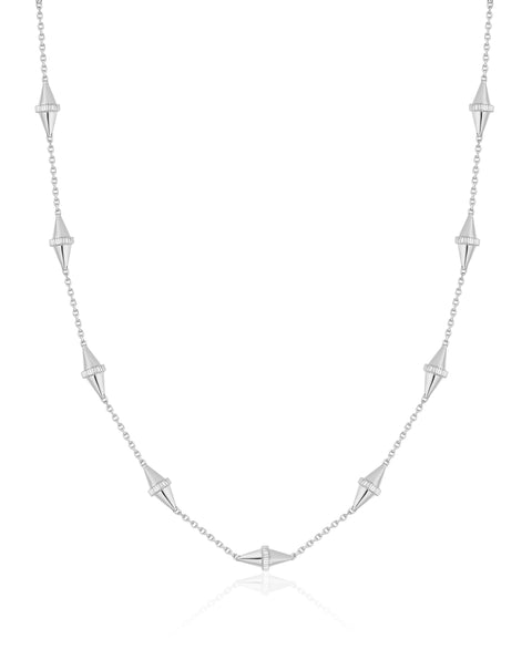 Golden Iconec Necklace, 10 Motifs (White)