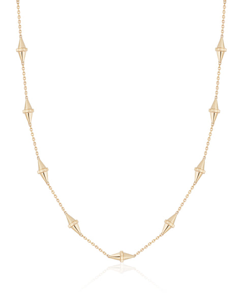 The Polli Medium 10-BiCone Necklace