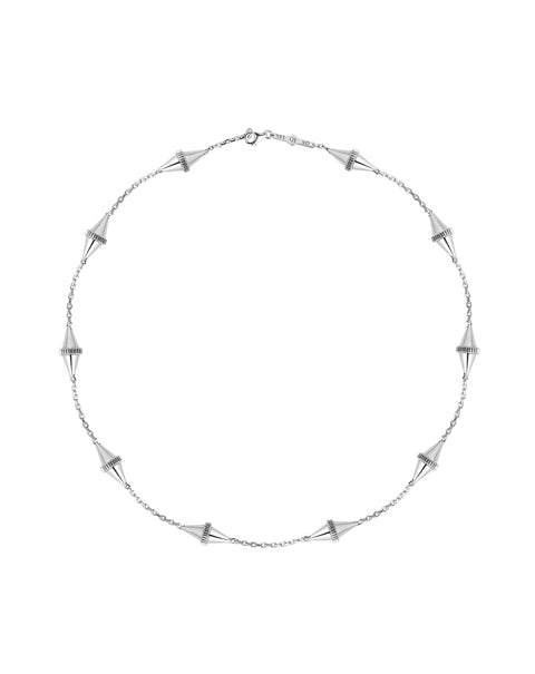 Core Iconec Necklace, 10 Motifs (White)
