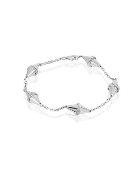 Golden Iconec Bracelet, 5 Motifs (White)