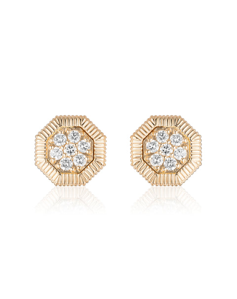 Octanight Earrings in Yellow Gold