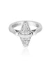 Golden Iconec Ring with Full Paved Diamonds (White)
