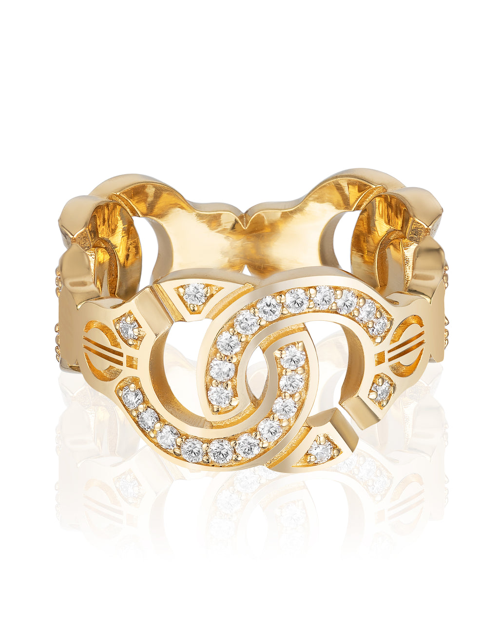 The Aphrodite Ring with Diamonds