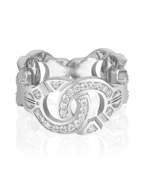 The Hedone Ring with Diamonds