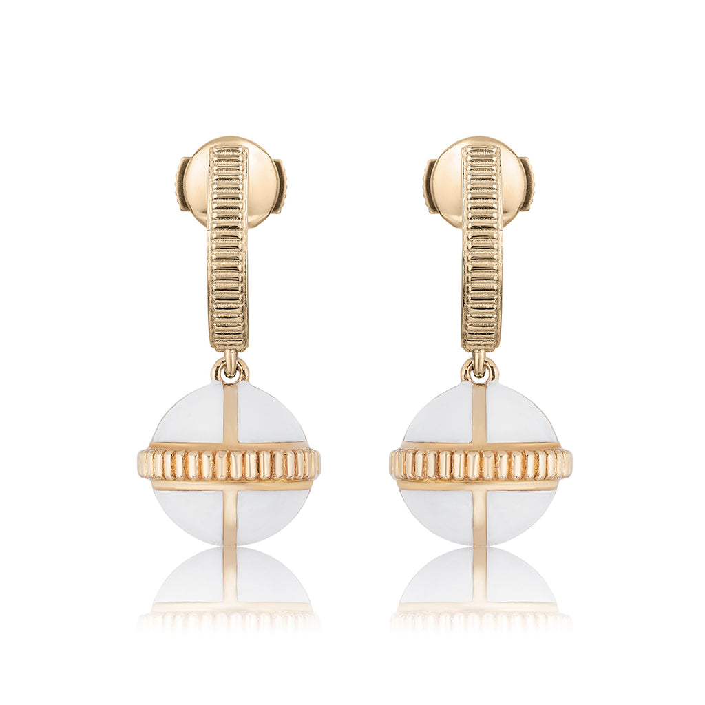 Rising Canopus Drop Earrings (White)