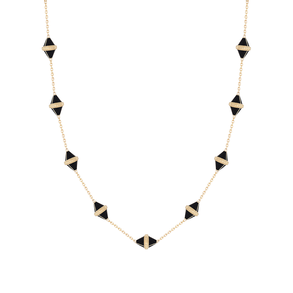 Tresor Iconec Necklace, 10 Motifs (Onyx)
