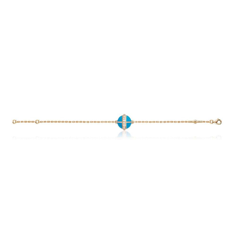 Rising Canopus Bracelet with Diamonds (Turquoise)