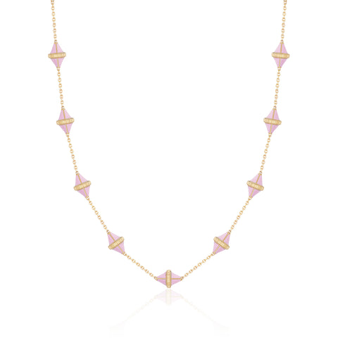Tresor Iconec Necklace, 10 Motifs (Pink)