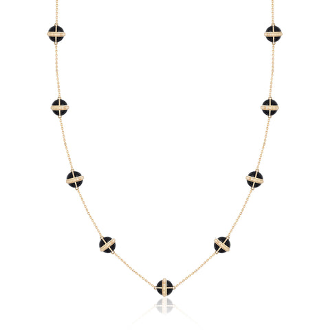 Rising Canopus Necklace, 9 Motifs (Black)