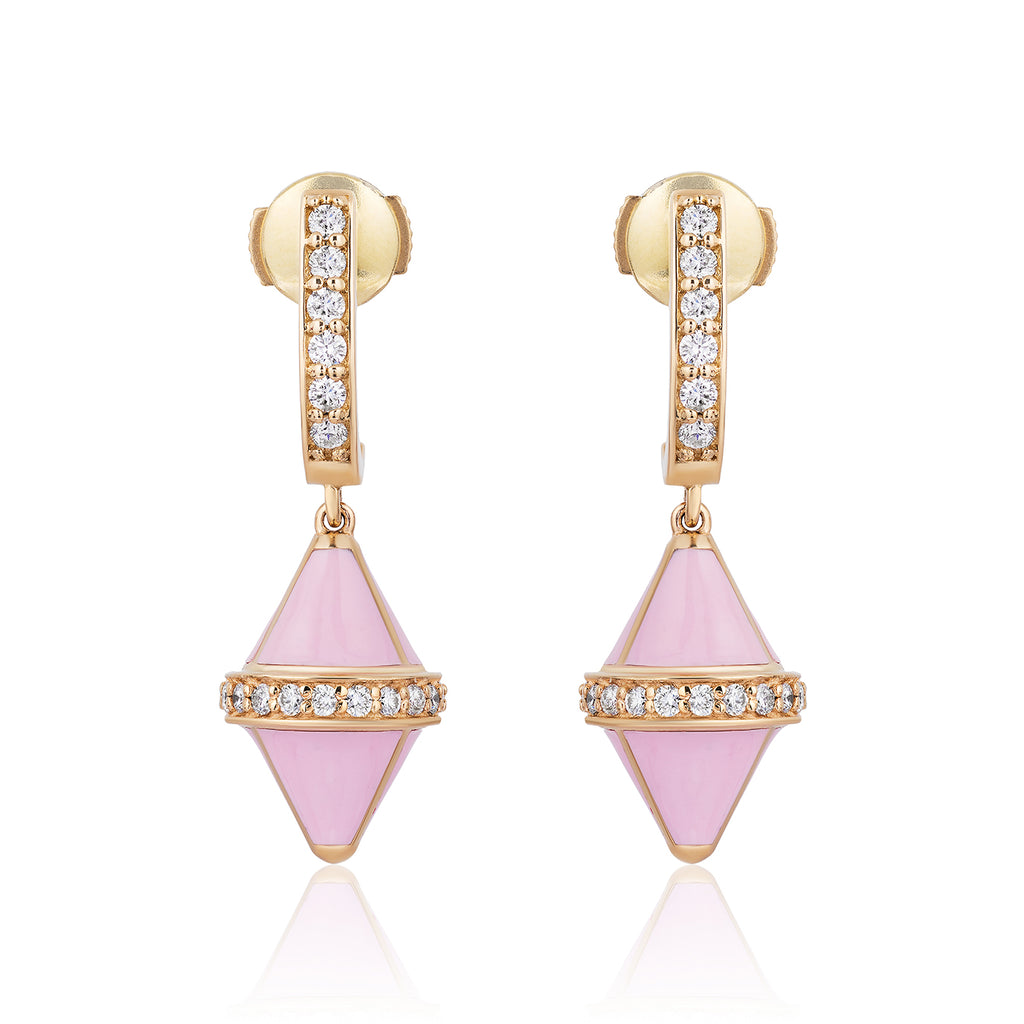 Tresor Iconec Earring Set with Diamonds (Pink)
