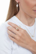 Tresor Iconec Between The Finger Ring with Diamonds (White)