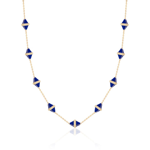 Tresor Iconec Necklace, 10 Motifs (Blue)