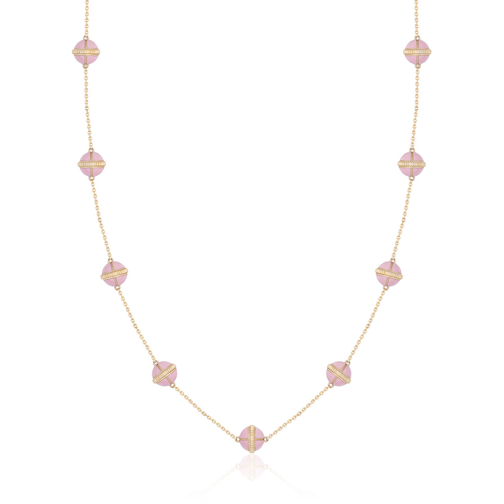Rising Canopus Necklace, 9 Motifs (Pink)